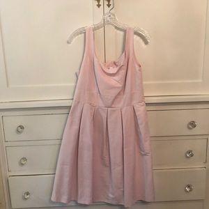 Pink A line dress. Side zipper. Never worn.